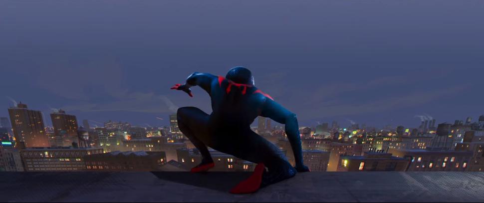 〈스파이더맨: 뉴 유니버스〉의 한 장면