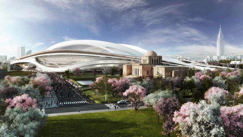 자하 하디드가 제안한 일본 신(新) 국립경기장 디자인
