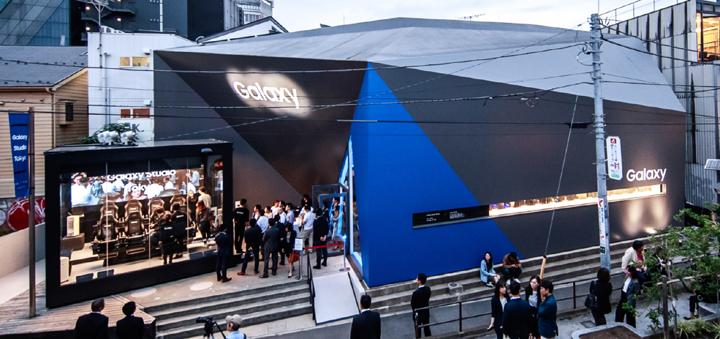 삼성전자가 전략 스마트폰 갤럭시 S8, 갤럭시 S8+ 일본 출시에 앞서 프리미엄 체험존 갤럭시 스튜디오를 25일 오픈했다.(사진제공: 삼성전자)