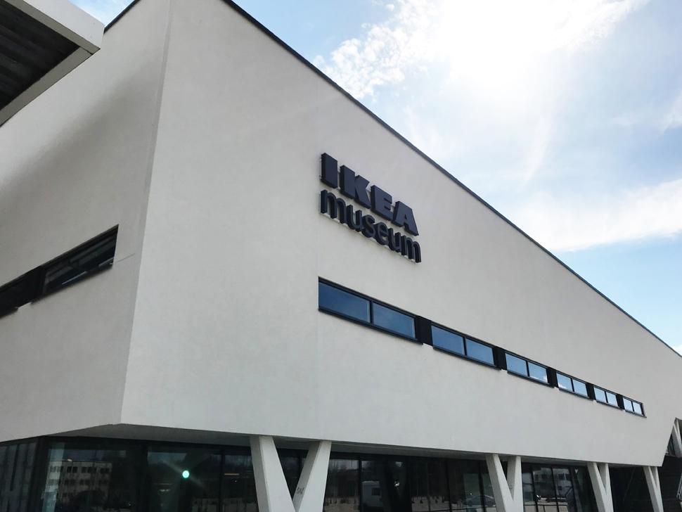 스웨덴 엘름훌트(Almhult)에 위치한 이케아 뮤지엄의 외관