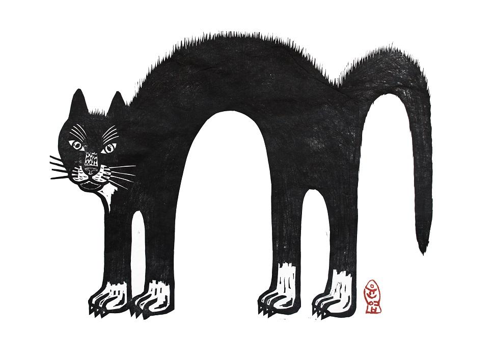 이윤엽, <띵가>, 목판화, 76×56cm, 2014