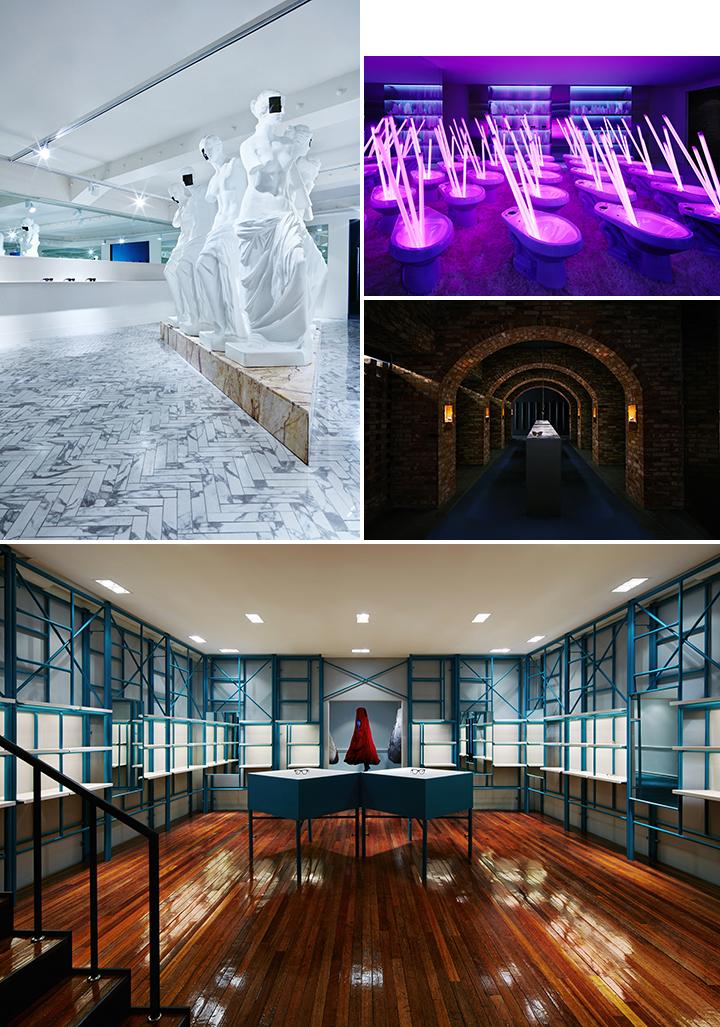 배우와 무대, 관객이라는 극의 세 가지 요소로 이루어진 부산 광복 쇼룸. 'THE PLAY: 연극'을 주제로 특별한 공간을 연출했다.