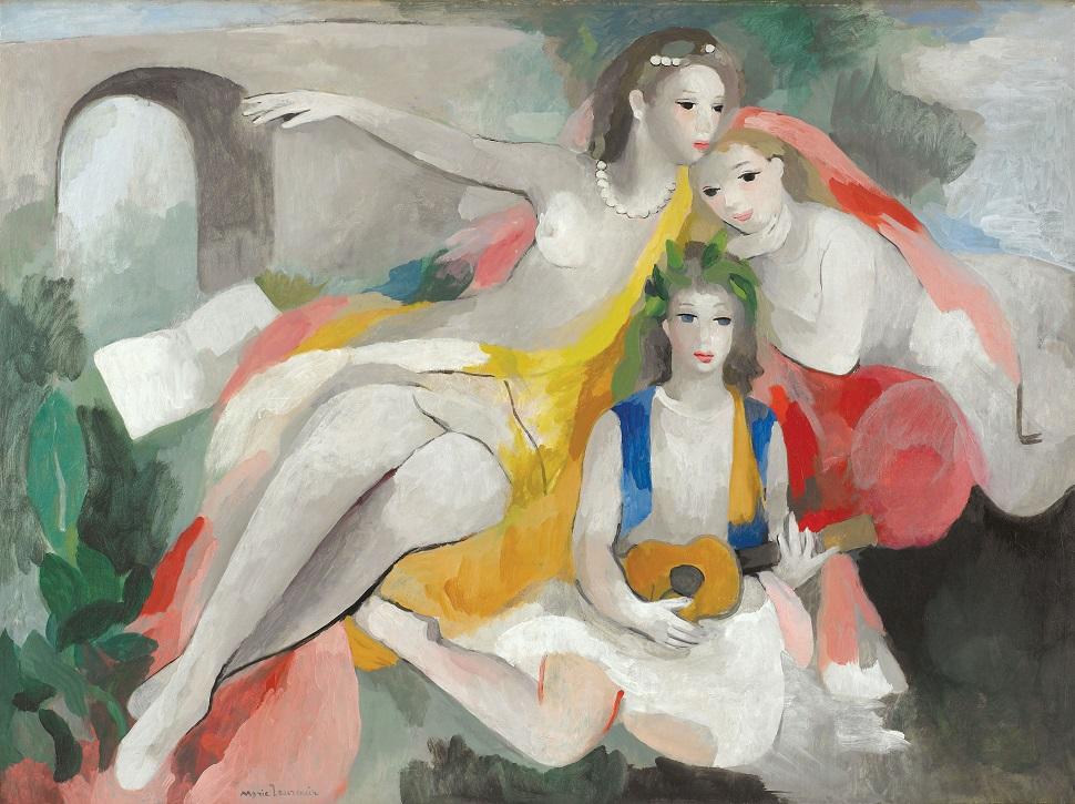 〈세 명의 젊은 여인들〉 캔버스에 유채 1953