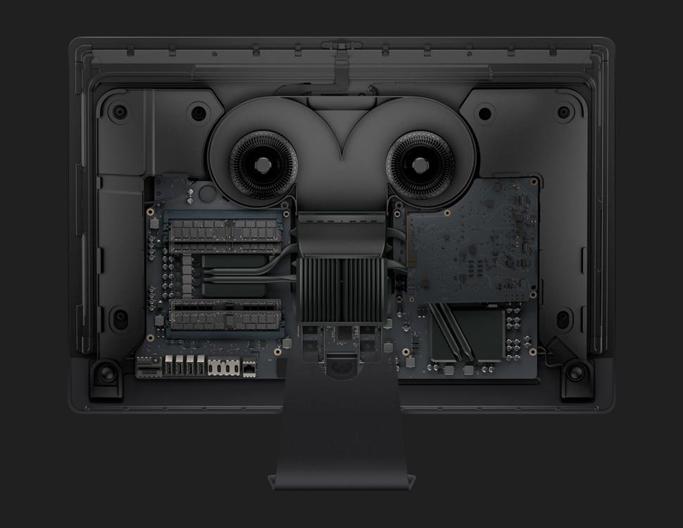 애플은 워크스테이션급 아이맥 프로를 위해 발열 시스템을 새로 설계했다.