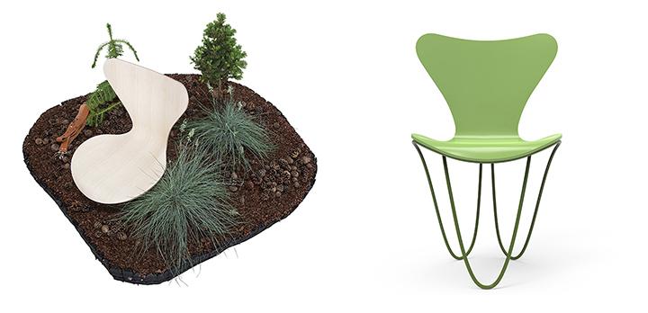 프리츠 한센이 선보인 아이코닉 의자, 시리즈 7. Snohetta(좌) Zaha Hadid Design(우)(사진제공: 서울리빙디자인페어)