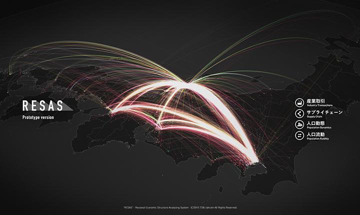 경제산업성 중소기업청의 빅데이터 비쥬얼라이저 '지역 경제 빅데이터 비쥬얼라이저 프로토타이핑 시스템'