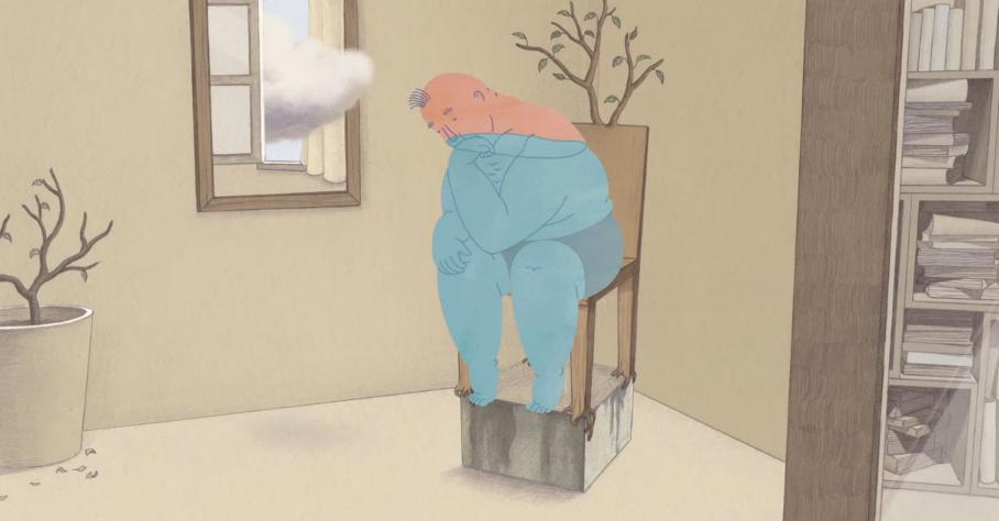 정다희, 〈의자 위의 남자〉