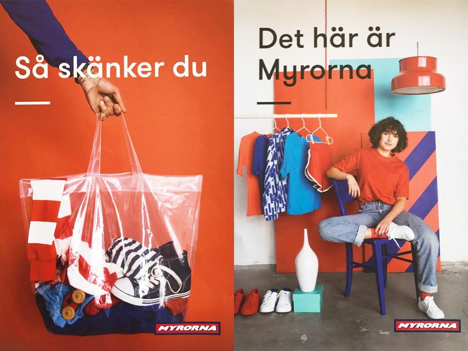 스웨덴을 대표하는 세컨핸즈 브랜드 뮈루나의 광고