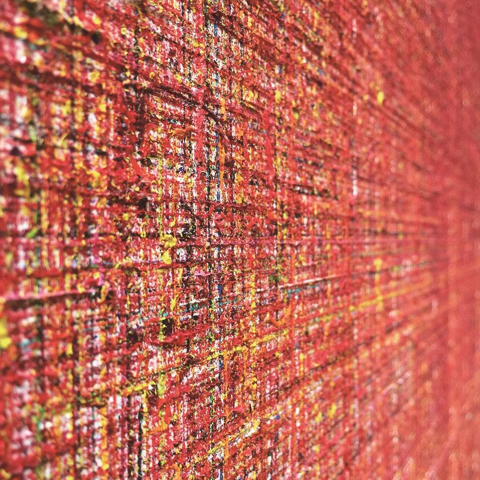 아트 오피스 오자사, 요코미조 미유키, Miyuki YOKOMIZO, Line F100.120.2018(detail), 2018, Oil on canvas, 162x130cm(사진제공: 아트부산)