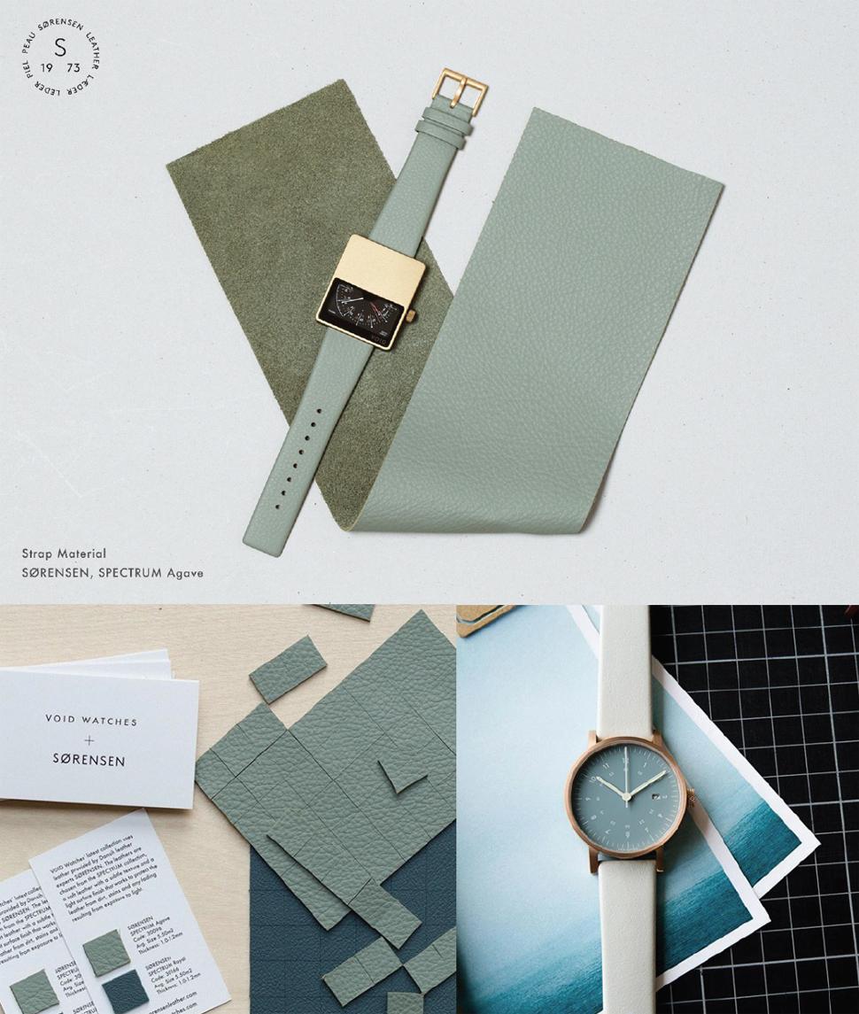 컬러와 소재 선정을 위한 디자인 프로세스 이미지 컷 ⓒ VOID WATCH