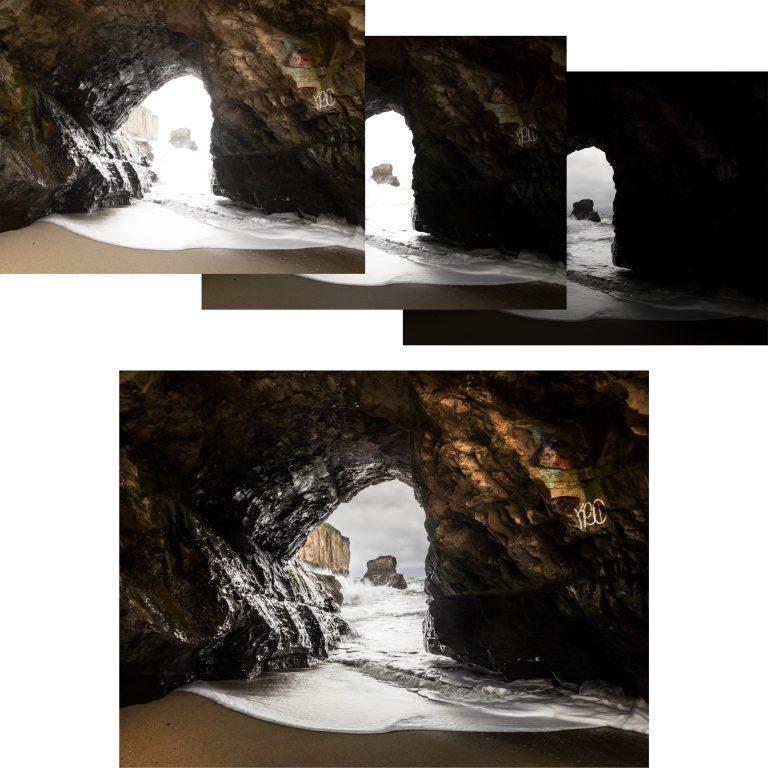 로우 HDR 캡처 모드는 사진의 노출을 자동으로 스캔하고, 각 다른 3장의 이미지를 생성한다. 그리고 최종적으로 그 정보를 합쳐 적정 노출을 가진 1장의 이미지를 생성한다.