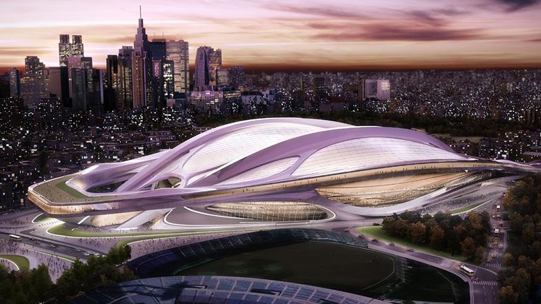 자하 하디드가 제안한 일본 신(新) 국립경기장 디자인(오리지널)