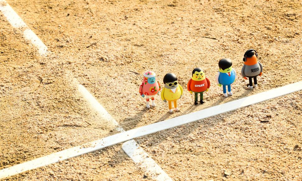 왼쪽부터 꽃쫄쫄이 광희, MC날유, 소년명수, 하이브리드샘이솟아리오베이비, MC민지 (사진 제공: MBC브랜드스토어)
