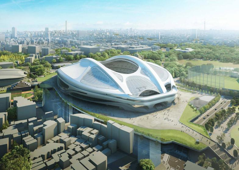 자하 하디드가 제안한 일본 신(新) 국립경기장 디자인(수정본)