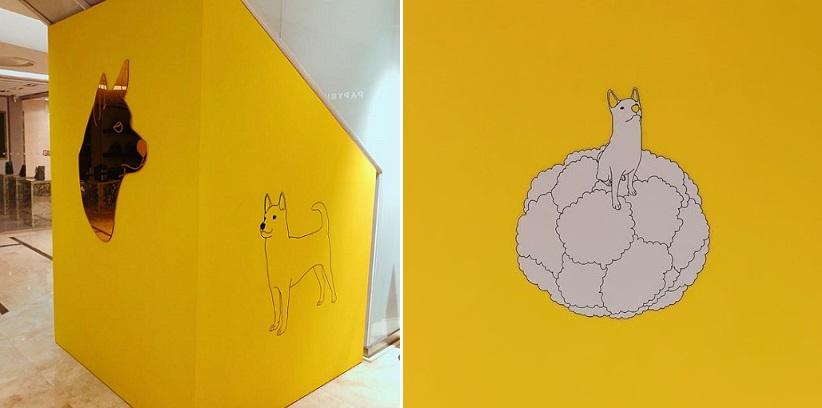롯데 본점 에비뉴엘 전시에서는 개의 해를 맞아 개를 주제로 한 작품들을 함께 선보인다.