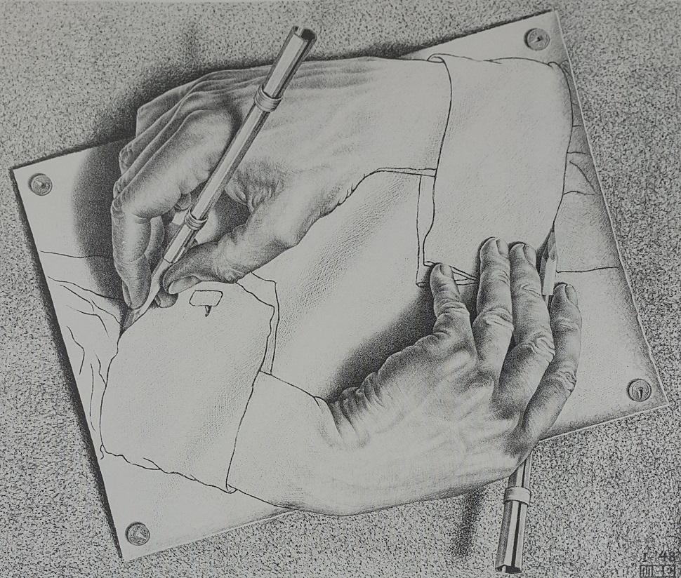 Drawing hands (그리는 손), 1948