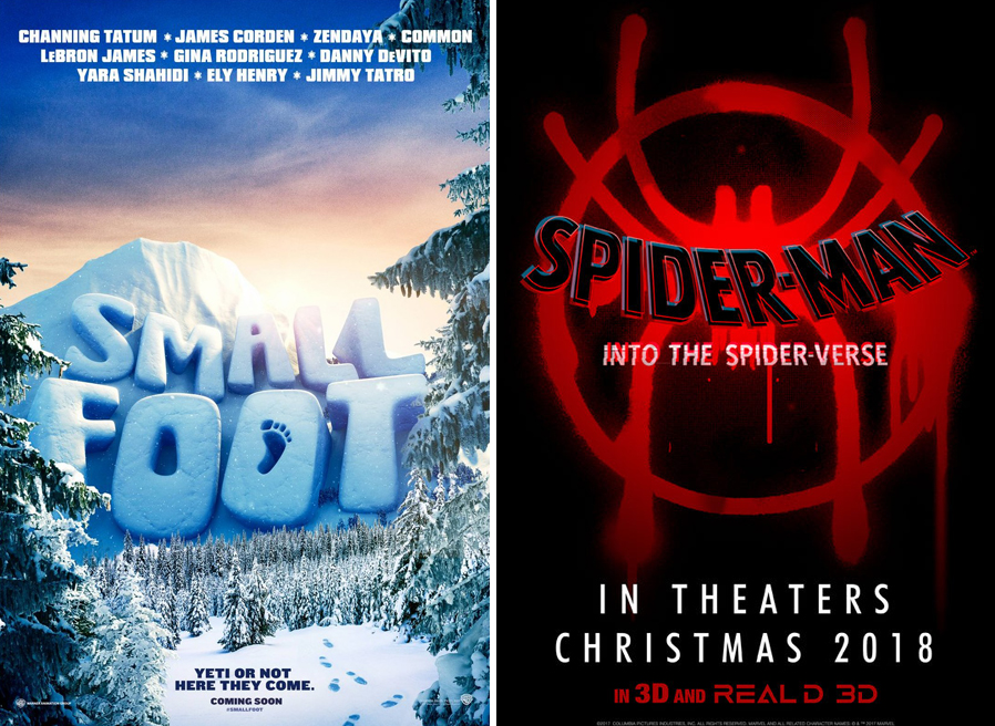 〈스몰풋〉, 〈스파이더맨: 뉴 유니버스〉 영화 포스터