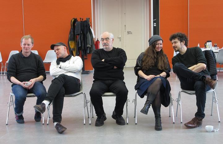 심사위원단 왼쪽부터, Markus Dressen, Martin Woodtli, Alain Le Quernec, Eva Dranaz, Stefan Guzy ⓒ 100 Beste Plakate e. V.