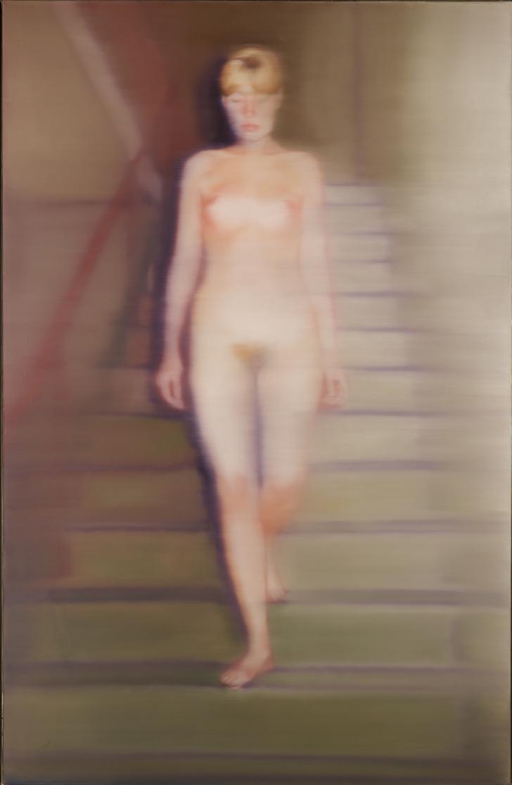 Ema (Nude on a Staircase), 1966  Oil on canvas 200 x 130 cm  ⓒ Gerhard Richter 2016 (221116)  Photo: Rheinisches Bildarchiv Köln