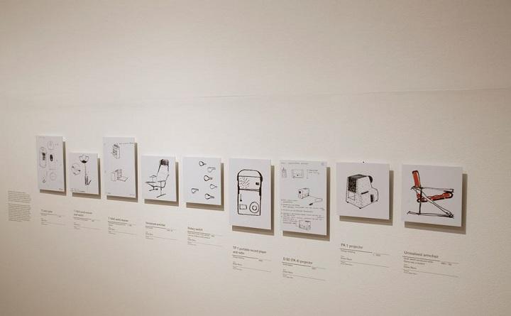 2009년 디자인 뮤지엄 전시 당시 소개되었던 디터 람스의 스케치 모음 © Design Museum