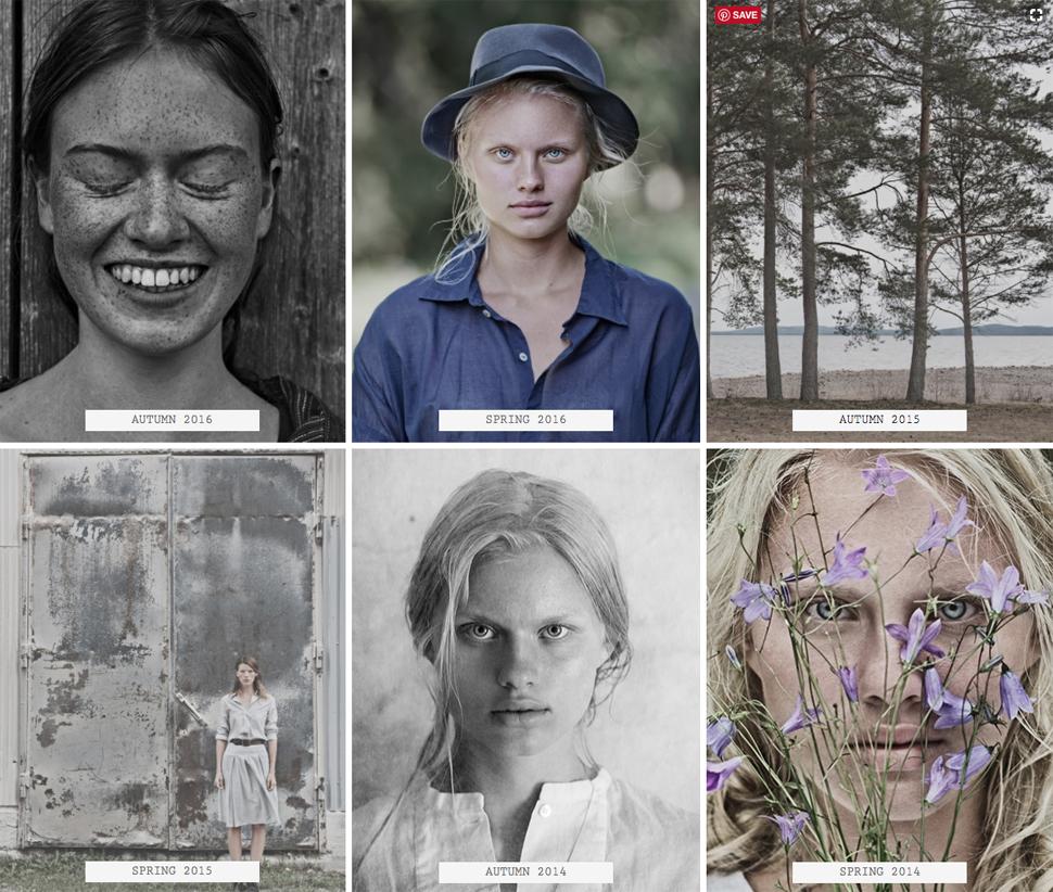 니가드안나 공식 웹사이트(www.nygardsanna.se)의 Library 섹션 이미지 컷들 ⓒ Nygardsanna