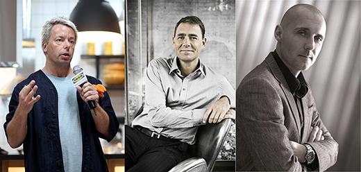 왼쪽부터 이케아 코리아 안톤 혹크비스트 인테리어 디자인 총괄, 프리츠 한센 야콥 홀름 대표, 베르판 페테르 프란센 대표 (사진제공: 서울리빙디자인페어)
