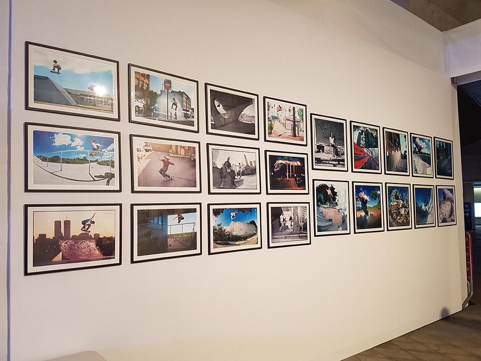 스케이트 포토그래피 마스터 클래스와 함께 스케이트보딩 사진작품이 전시됐다.
