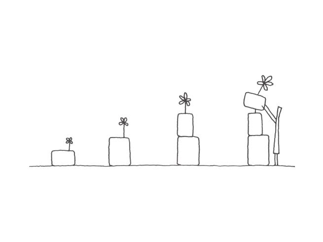 일본 디자이너 넨도(Nendo)가 <블록 꽃병(Block Vase)> 디자인을 위해 그린 콘셉트 스케치 중에서. ⓒ Nendo.