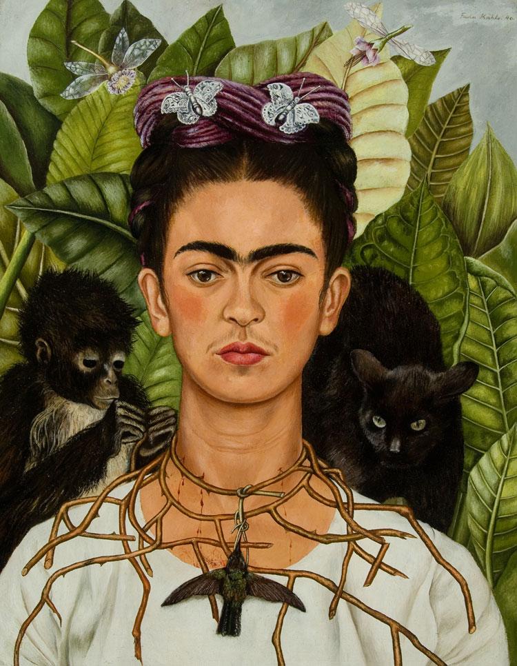 프리다 칼로에게 자기 자신은 가장 좋은 작품의 소재였다.