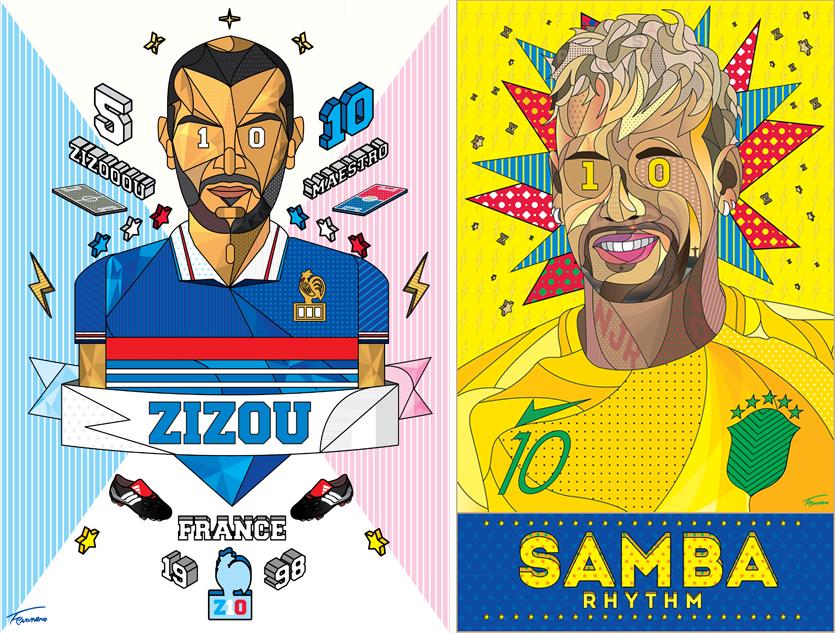 페노메노 again 1998 홀로그램 printed on t-shirts 2018, 페노메노 삼바리듬 85x50cm 홀로그램 2018