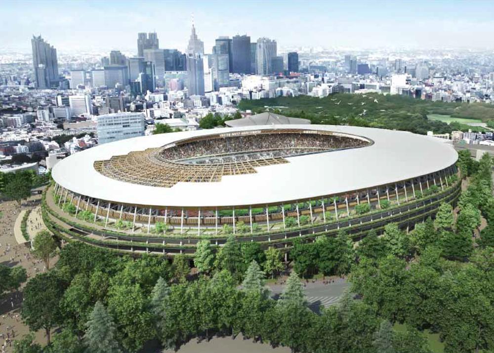 켄고 쿠마(Kengo Kuma) 제안한 일본 신(新) 국립경기장 디자인