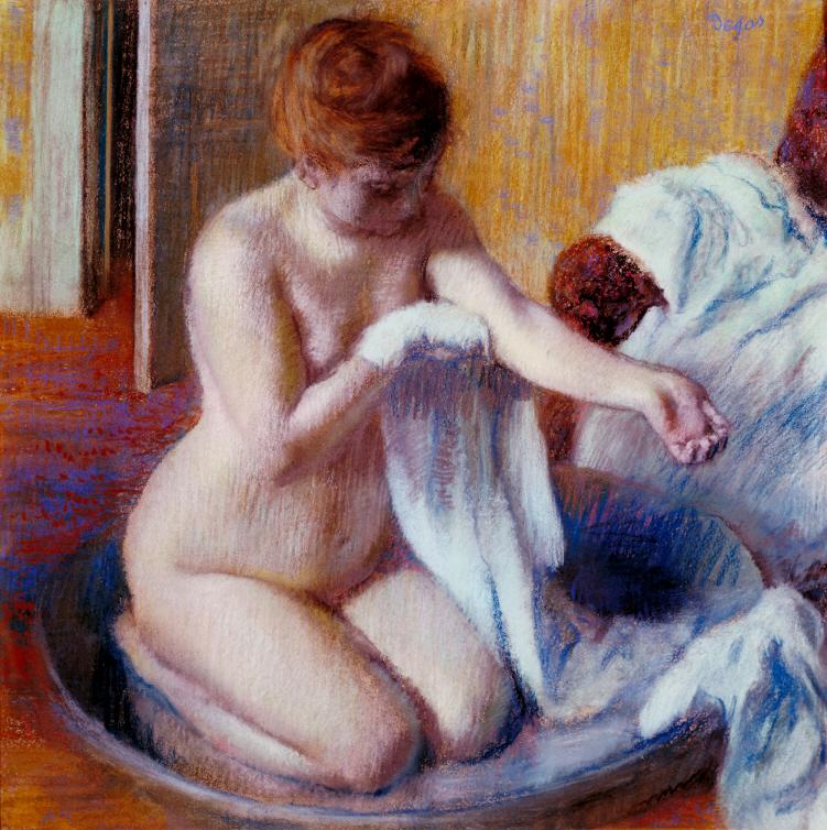에드가 드가 Edgar Degas (1834-1917) 욕조 속 여인 1883년경 / 종이에 파스텔 / 70 × 70 ㎝ Woman in a Tub  c.1883 / Pastel on paper Tate: Bequeathed by Mrs A.F. Kessler 1983