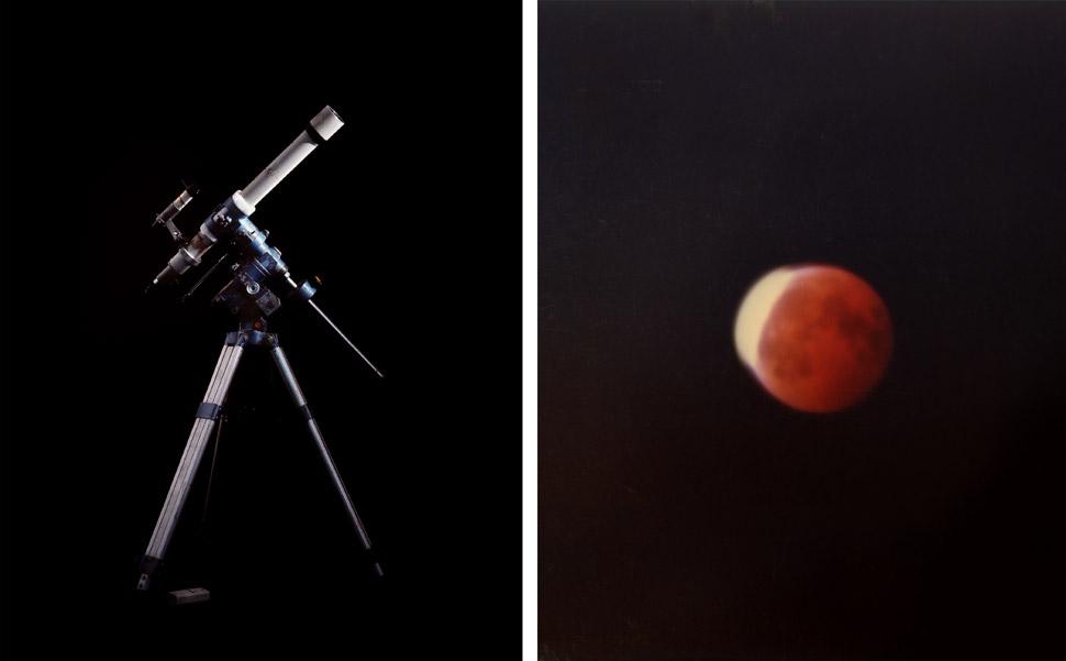 〈사진은 학자의 망막 - 황상권, 개기월식〉, 딥틱 아카이벌 피그먼트 프린트, 150x90cm, 2012