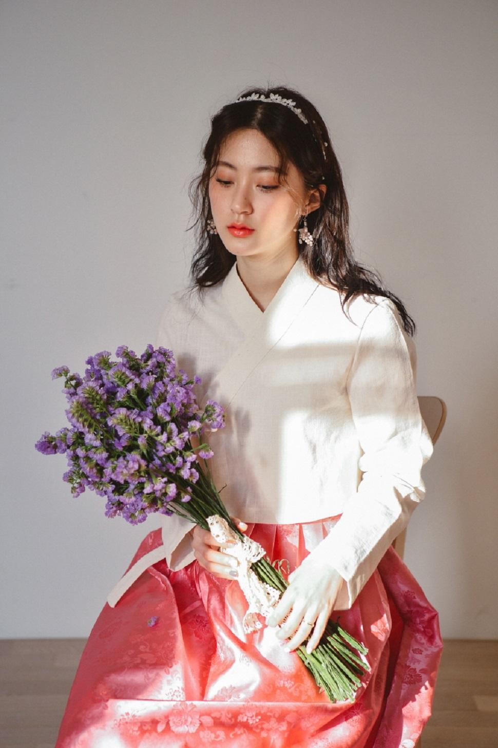 꽃분홍 양단 허리치마©한땀한땀 생활한복