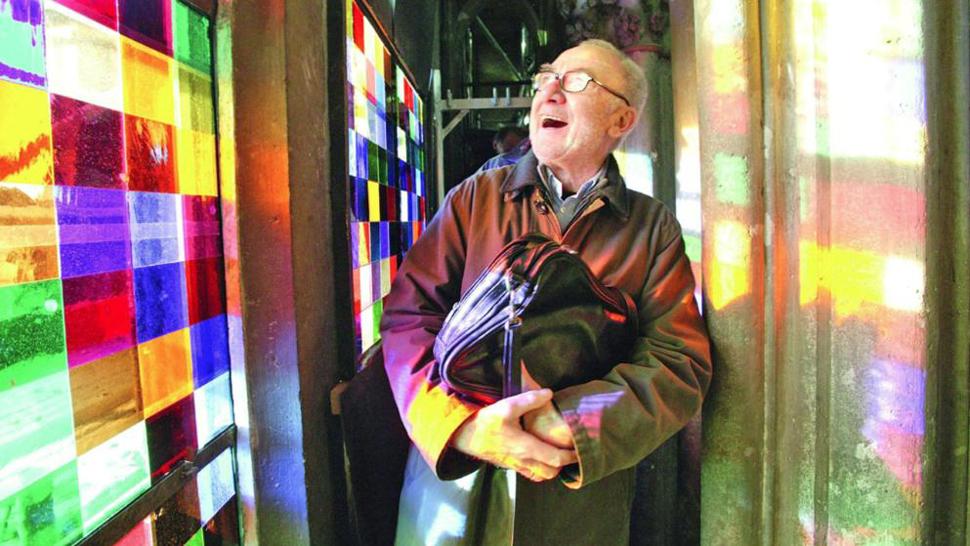2007년 7월 그가 유리창을 보기 위해 대성당을 처음 방문한 리히터 ⓒ J. P. BAchem Verlag