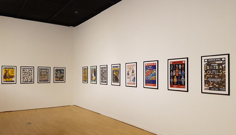 벨기에 토이 뮤지엄의 포스터들을 선보이는 '아트워크 갤러리'