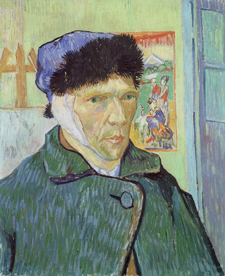 빈센트 반 고흐의 자화상, 〈Vincent Van Gogh Self Portrait with Bandaged Ear〉