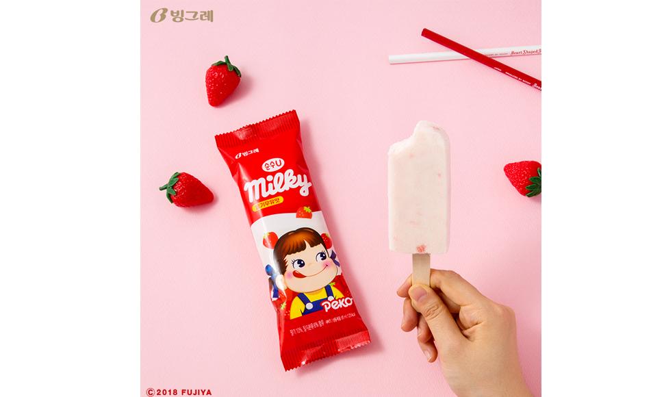 빙그레 순수 U milky 아이스크림(사진출처: 빙그레 페이스북 www.facebook.com/bingsmile)