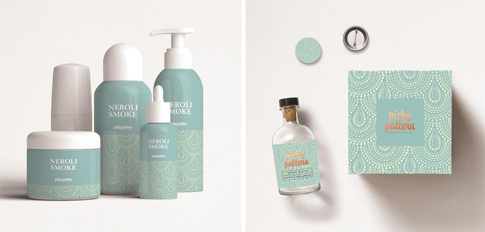 패턴디자인은 원단뿐 아니라 플라스틱이나 지류 등 다양한 디자인에 활용된다.
