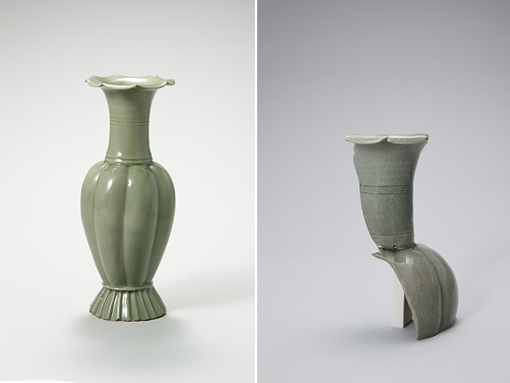 청자 참외 모양 병(강진 사당리 가마터 출토), 고려 12세기