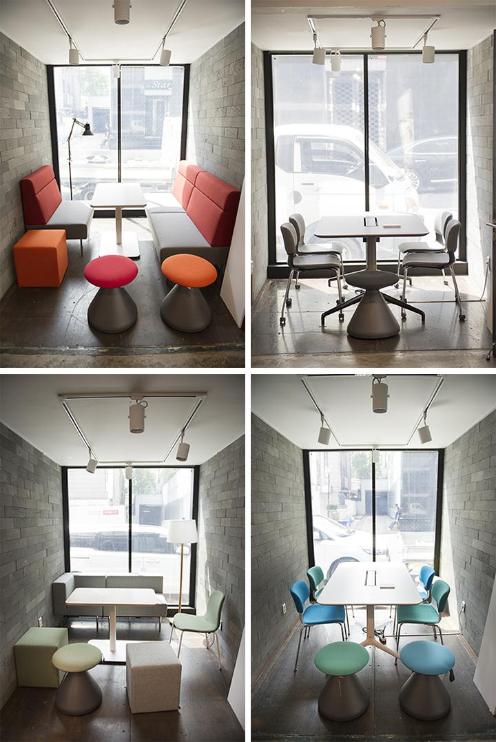 4가지 오피스 디자인 컬러 콘셉트, 캐주얼, 클래식, 내추럴, 팝