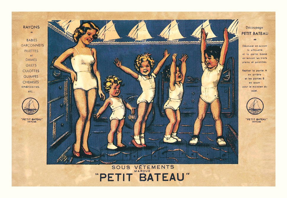 Paper doll cut outs, 1920s-1930s, illustration by Germaine Bouret