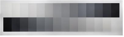 무채색의 14단계 명도, 벽에 수성페인트