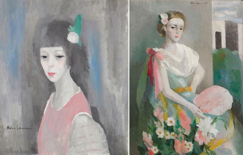 (좌)〈자화상〉 캔버스에 유채 1924, (우)〈샤를델마스부인의 초상〉 캔버스에 유채 1938