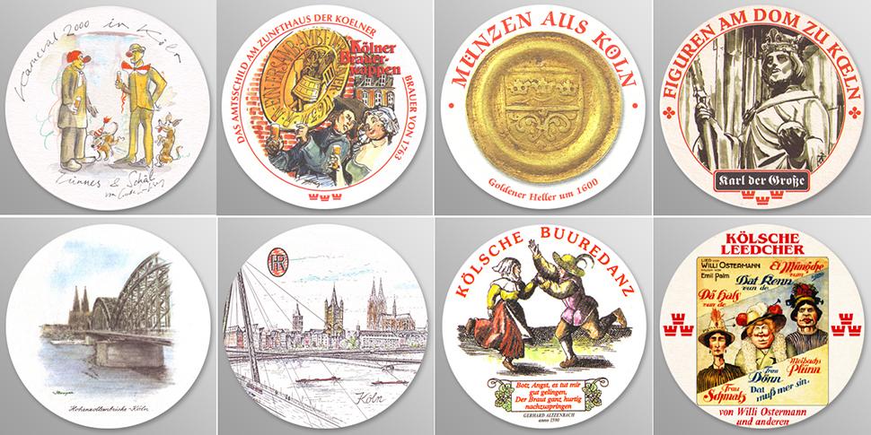 라이스도르프의 다양한 비어 데켈 ⓒ Privat-Brauerei H. Reissdorf GmbH & Co KG