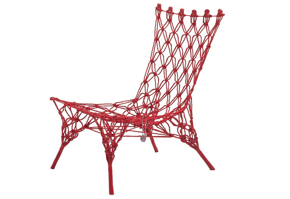 네덜란드 Marcel Wanders의 Cappellini knotted chair
