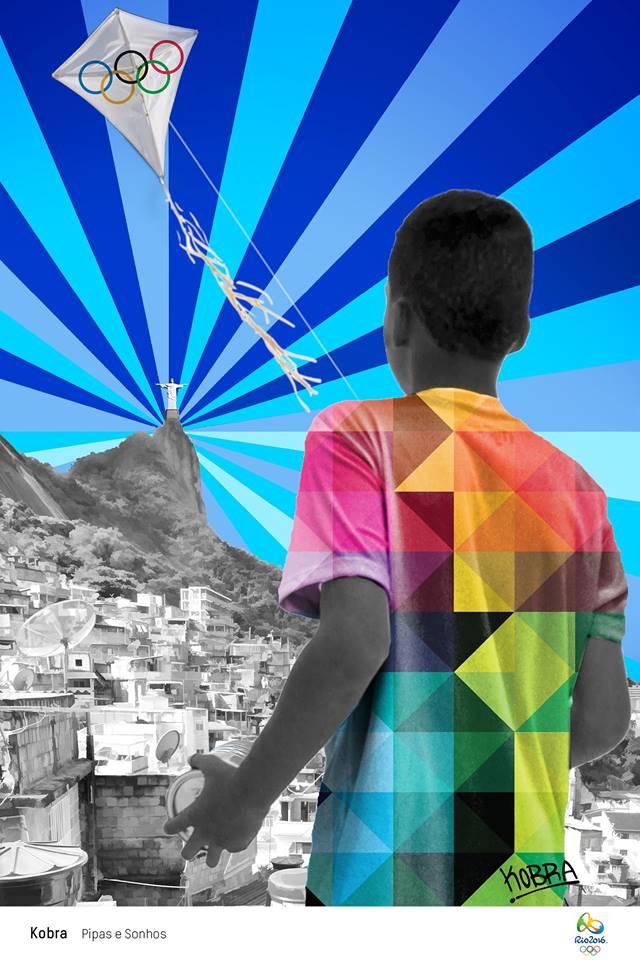 <Pipas e Sonhos> by 코브라(Kobra) ⓒ Rio 2016.