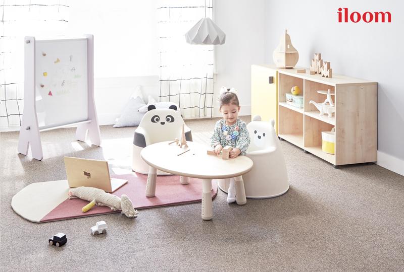 일룸이 유아기 성장 발달을 고려한 맞춤형 키즈 소파 아코 시리즈의 신규 라인으로 베어아코를 선보인다.(사진제공: 퍼시스그룹)