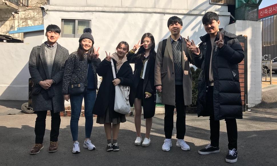 누리봄 멤버(좌)전병도, 김예주, 이예림, 서혜인, 허윤재, 공동환