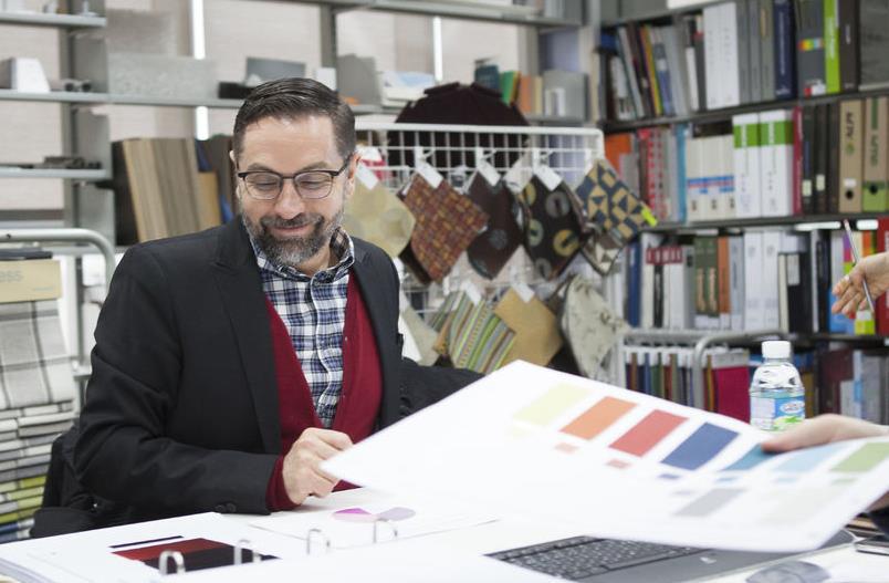 퍼시스는 프랑스의 세계적인 색채 컨설팅 회사 넬리로디사와의 협업으로 연구한 최신 오피스 트렌드를 발표, 4가지 컬러를 콘셉트로 잡았다.